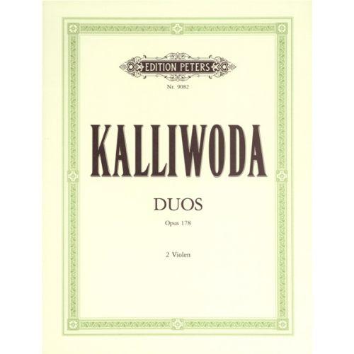 EDITION PETERS KALLIWODA JOHANN WENZEL - 3 EASY VIOLIN DUETS, OP.178 - VIOLIN DUETS