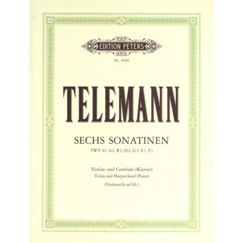 EDITION PETERS TELEMANN GEORG PHILIPP - 6 SONATINAS - VIOLIN AND PIANO