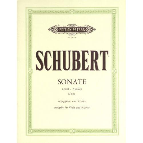 EDITION PETERS SCHUBERT FRANZ - ARPEGGIONE SONATA IN A MINOR D821 - VIOLA AND PIANO