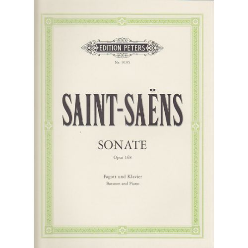 EDITION PETERS SAINT-SAENS CAMILLE - SONATE OP.168