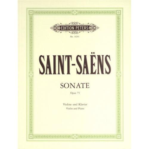 EDITION PETERS SAINT-SAENS CAMILLE - VIOLIN SONATA IN D MINOR OP.75 - VIOLIN
