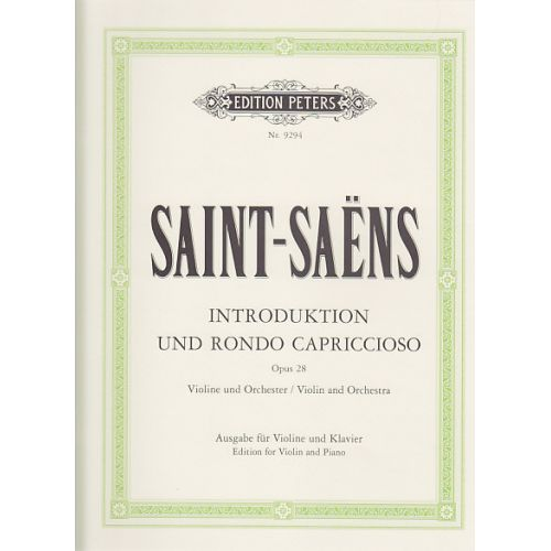 EDITION PETERS SAINT-SAËNS C. - INTRODUCTION ET RONDO CAPRICCIOSO OP. 28 - VIOLON ET PIANO