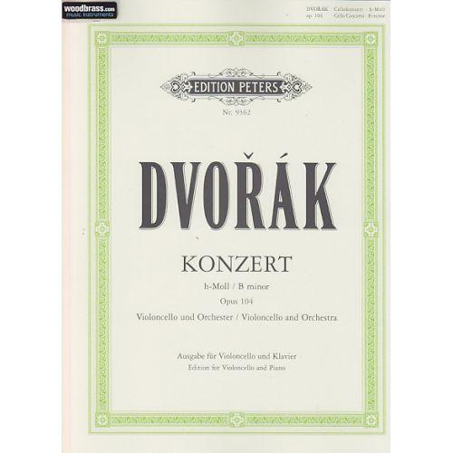 EDITION PETERS DVORAK ANTON - CONCERTO OP.104 EN SI MINEUR - VIOLONCELLE, PIANO