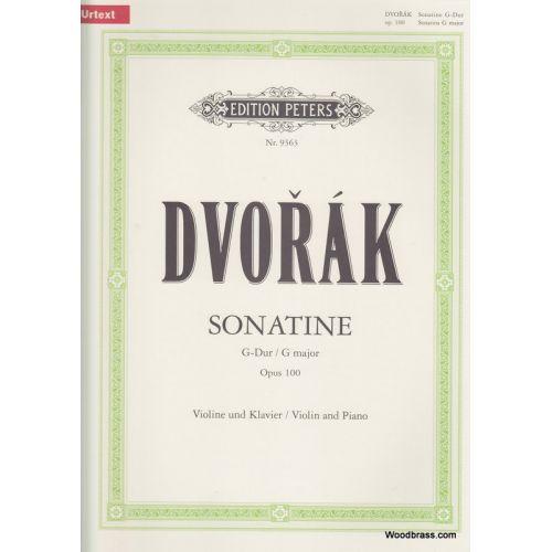 EDITION PETERS DVORÁK ANTON - SONATINA IN G OP.100 - VIOLIN AND PIANO