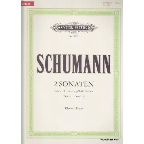 EDITION PETERS SCHUMANN ROBERT - SONATAS IN F# MINOR OP.11; G MINOR OP.22 - PIANO