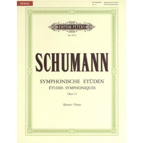 EDITION PETERS SCHUMANN ROBERT - ETUDES SYMPHONIQUES OP.13 - PIANO