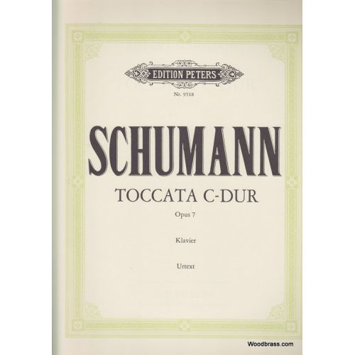 EDITION PETERS SCHUMANN ROBERT - TOCCATA C OP.7 - PIANO