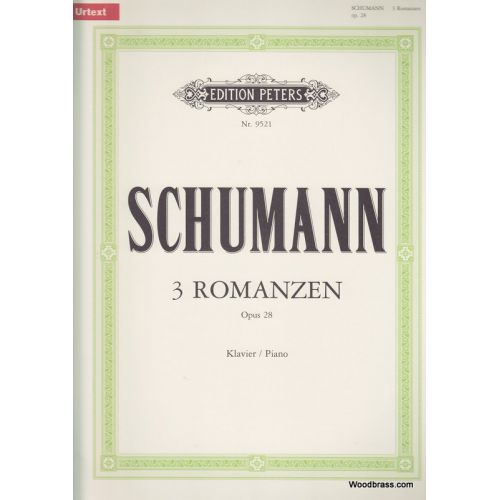 EDITION PETERS SCHUMANN ROBERT - 3 ROMANCES OP.28 - PIANO