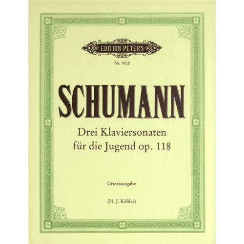EDITION PETERS SCHUMANN ROBERT - SONATAS 'FOR THE YOUNG' OP.118 - PIANO