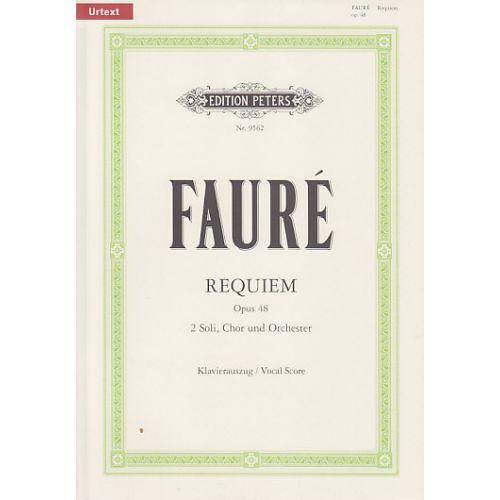 EDITION PETERS FAURE G. - REQUIEM OP. 48 - VOCAL SCORE
