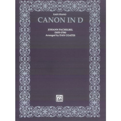 ALFRED PUBLISHING CANON IN D - PIANO SOLO