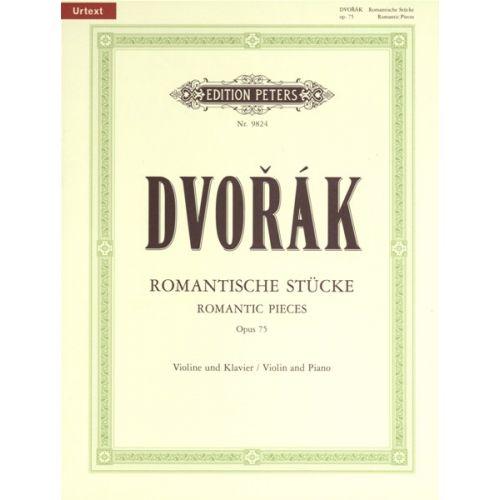 EDITION PETERS DVORÁK ANTON - ROMANTIC PIECES OP.75 - VIOLIN AND PIANO