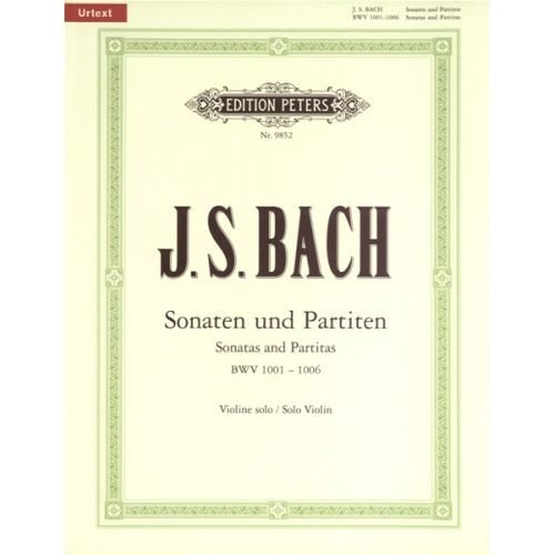 EDITION PETERS BACH JOHANN SEBASTIAN - THE 6 SOLO SONATAS AND PARTITAS BWV 1001-1006 - VIOLIN