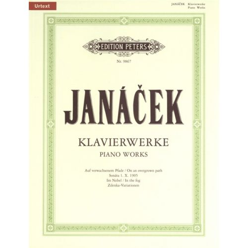 EDITION PETERS JANACEK LEOS - PIANO WORKS - PIANO