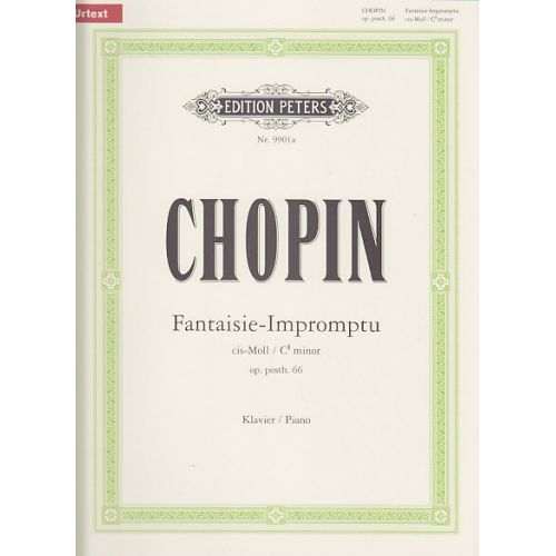 EDITION PETERS CHOPIN F. - FANTAISIE-IMPROMPTU CIS-MOLL OP. PH. 66 - PIANO