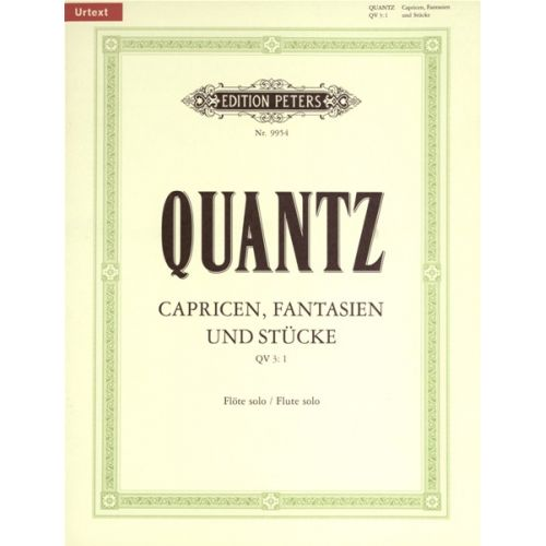 EDITION PETERS QUANTZ JOHANN JOACHIM - CAPRICES AND FANTASIES - FLUTE/PICCOLO