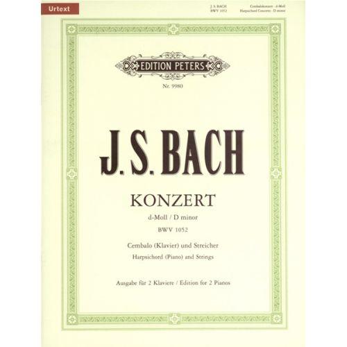 EDITION PETERS BACH JOHANN SEBASTIAN - CONCERTO NO.1 IN D MINOR BWV 1052 - PIANO 4 HANDS