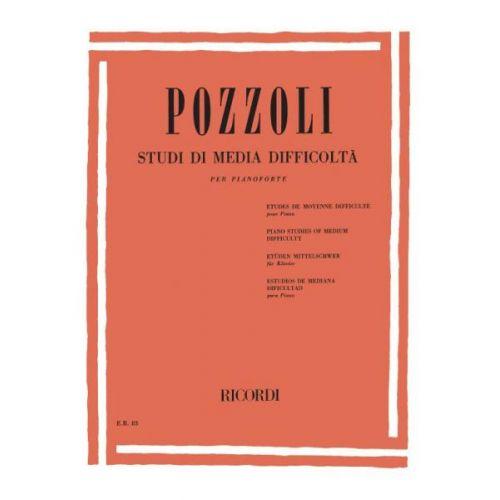 RICORDI POZZOLI E. - STUDI DI MEDIA DIFFICOLTA - PIANO