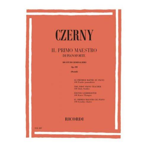RICORDI CZERNY C. - PRIMO MAESTRO DI PIANOFORTE - 100 STUDI GIORNALIERI OP 599 - PIANO