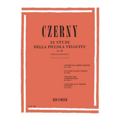 RICORDI CZERNY K. - 24 STUDI DELLA PICCOLA VELOCITA OP.636 - PIANO
