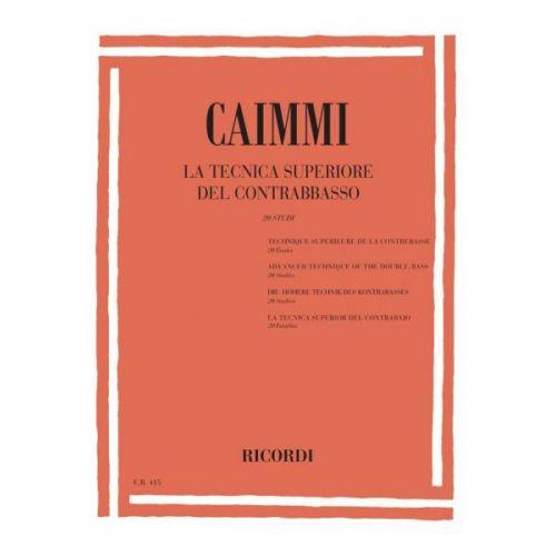 RICORDI CAIMMI I. - TECNICA SUPERIORE DEL CONTRABBASSO
