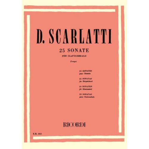 RICORDI SCARLATTI D. - 25 SONATE - PIANO