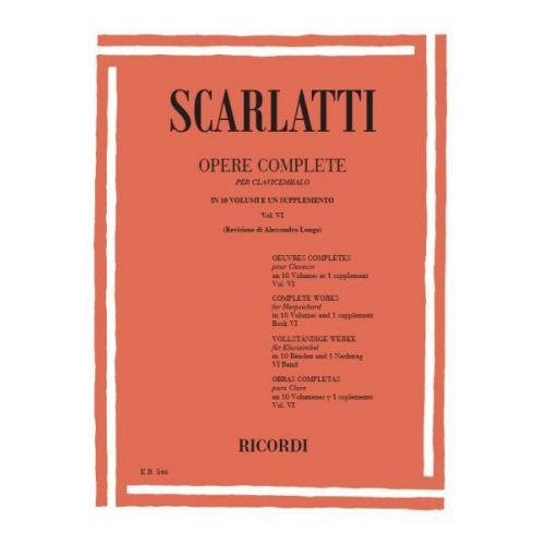 RICORDI SCARLATTI D. - OPERE COMPLETE PER CLAV. VOL.6 - PIANO