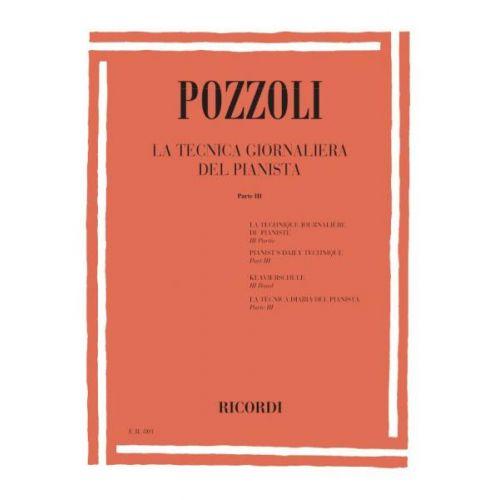 RICORDI POZZOLI E. - TECNICA GIORNALIERA DEL PIANISTA PARTE III - PIANO