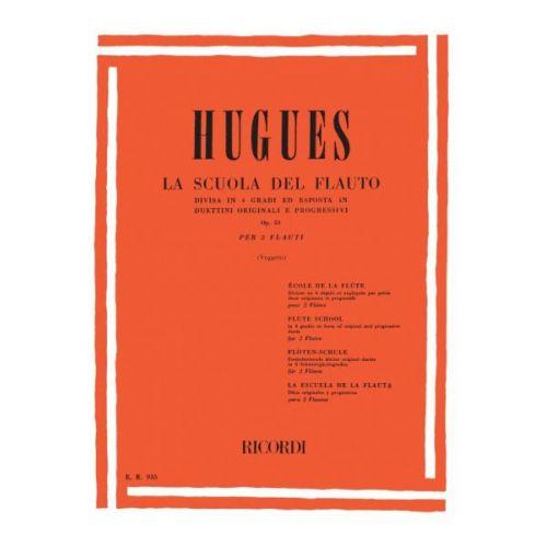RICORDI HUGUES L. - SCUOLA DEL FLAUTO DIVISA IN 4 GRADI - FLUTE