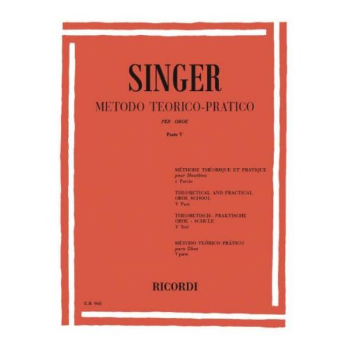 RICORDI SINGER S. - METODO TEORICO-PRATICO - PARTE V 20 GRANDI STUDI - HAUTBOIS