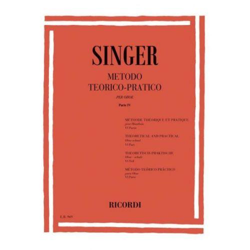 RICORDI SINGER S. - METODO TEORICO-PRATICO PER OBOE - PARTE VI - HAUTBOIS