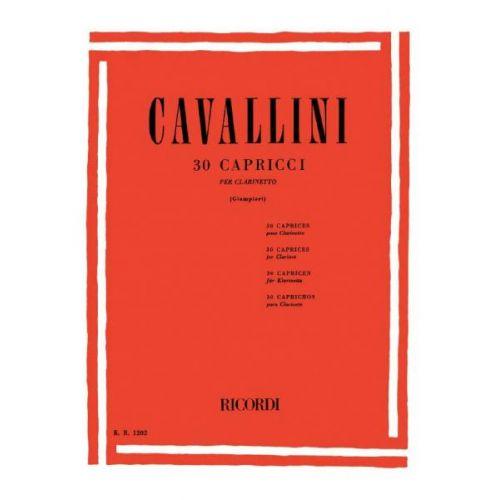 RICORDI CAVALLINI E. - 30 CAPRICCI - CLARINETTE