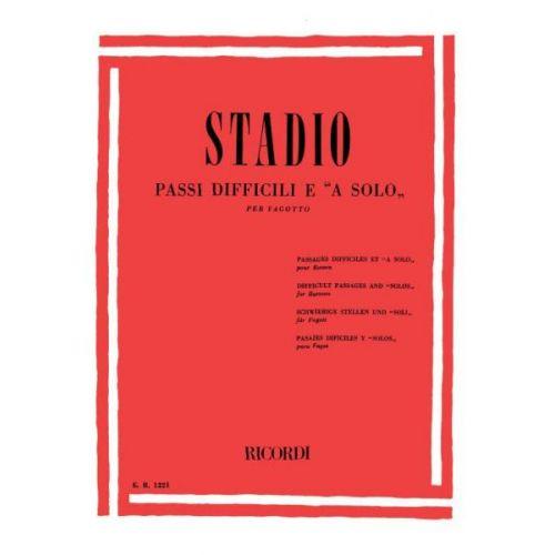 RICORDI STADIO C. - PASSI DIFFICILI E A SOLO - BASSON