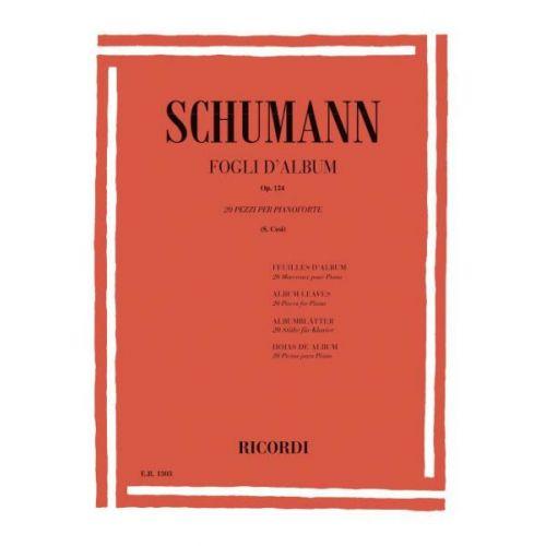 RICORDI SCHUMANN R. - FOGLI D' ALBUM OP. 124