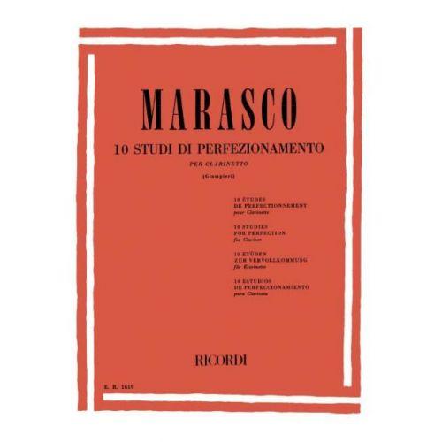 RICORDI MARASCO G. - 10 STUDI DI PERFEZIONAMENTO - CLARINETTE