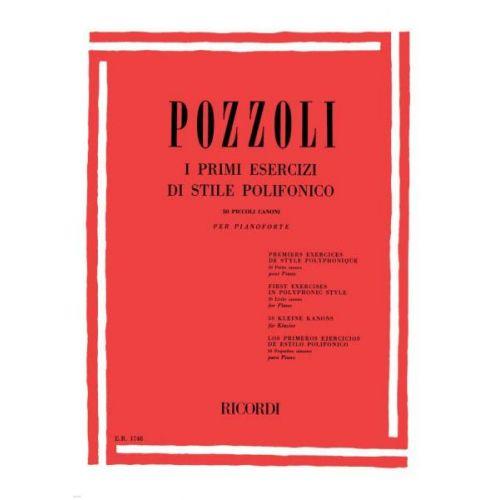 RICORDI POZZOLI E. - PRIMI ESERCIZI DI STILE POLIFONICO 50 PICCOLI CANONI - PIANO