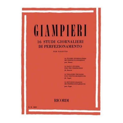 RICORDI GIAMPIERI A. - 16 STUDI GIORNALIERI DI PERFEZIONAMENTO - BASSON