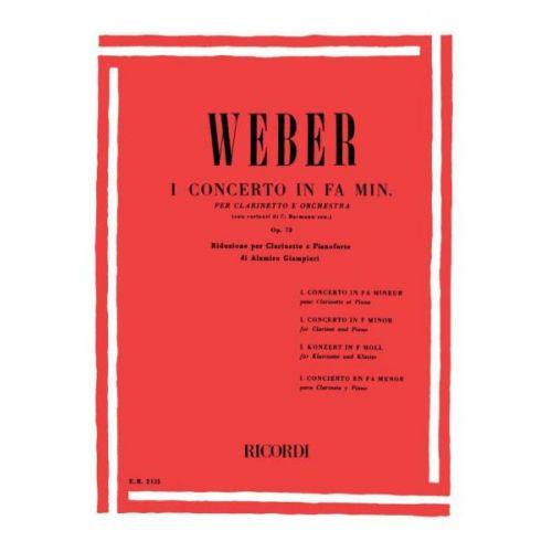 RICORDI WEBER C.M. - CONCERTO N.1 IN FA MIN. OP.73 - CLARINETTE ET PIANO