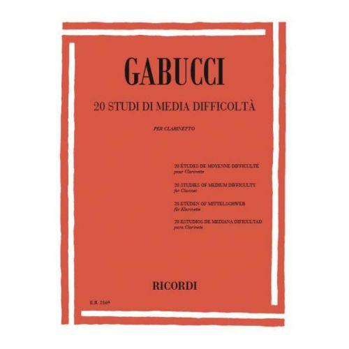 RICORDI GABUCCI A. - STUDI DI MEDIA DIFFICOLTA - CLARINETTE