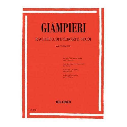RICORDI GIAMPIERI A. - RACCOLTA DI ESERCIZI E STUDI - CLARINETTE