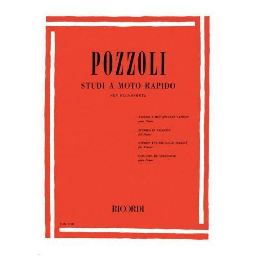 RICORDI POZZOLI E. - STUDI A MOTO RAPIDO - PIANO