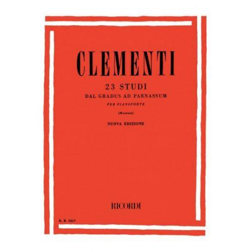 RICORDI CLEMENTI M. - 23 STUDI DAL GRADUS AD PARNASSUM PER PIANOFORTE - PIANO