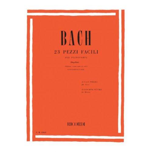 RICORDI BACH J.S. - 23 PEZZI FACILI - PIANO