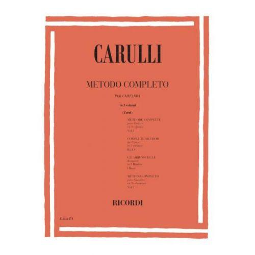 RICORDI CARULLI F. - METODO COMPLETO PER CHITARRA VOL. I - GUITARE