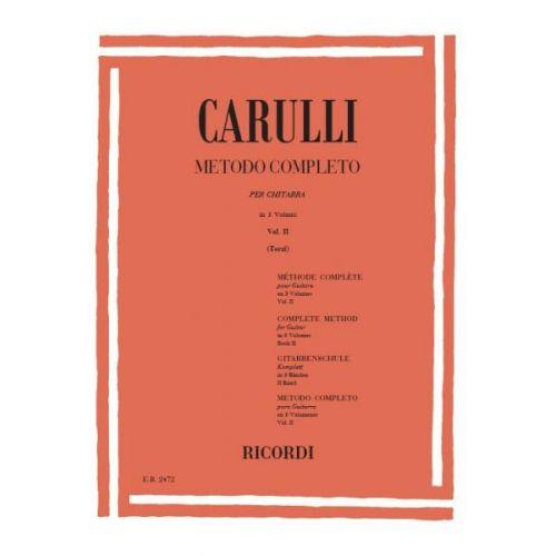 RICORDI CARULLI F. - METODO COMPLETO PER CHITARRA VOL. II