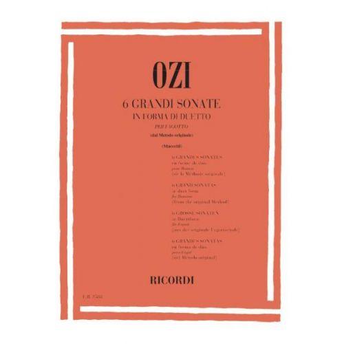RICORDI OZI E. - 6 GRANDI SONATE IN FORMA DI DUETTO - BASSON