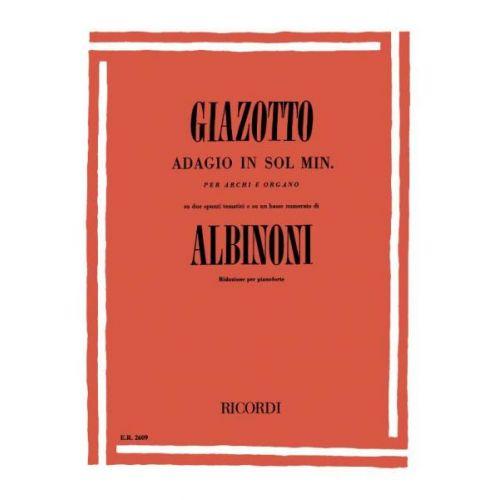 RICORDI ALBINONI T. - ADAGIO IN SOL MIN - PIANO