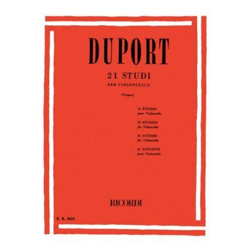 RICORDI DUPORT J.L. - 21 STUDI - VIOLONCELLE