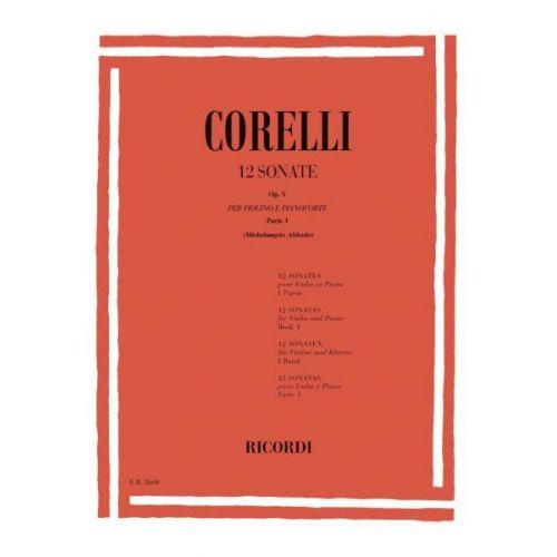 RICORDI CORELLI A. - 12 SONATE OP. V - VIOLON ET BASSE