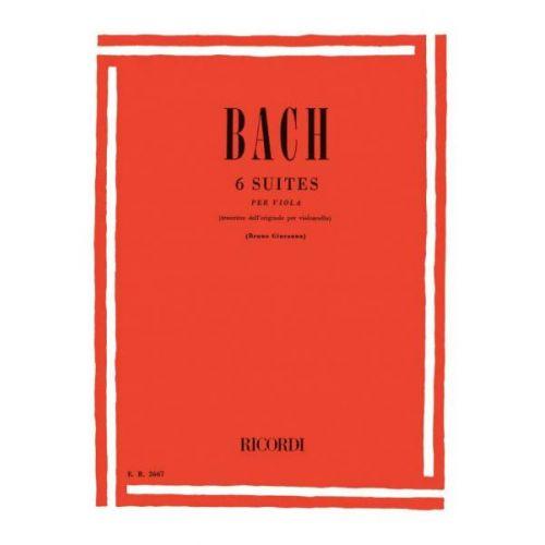 RICORDI BACH J.S. - 6 SUITES BWV 1007-1012 - ALTO